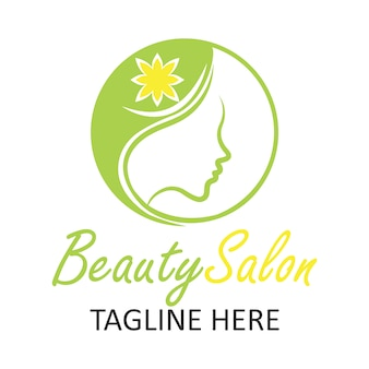 Beauty salon logo with woman design