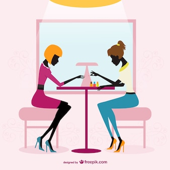 Beauty salon silhouettes