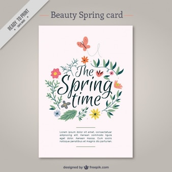 Beauty spring card