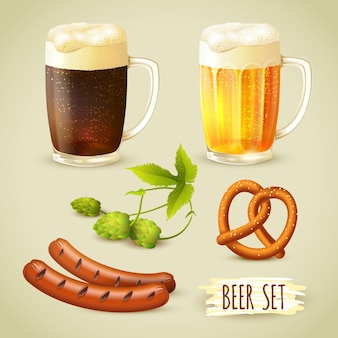 Beer and snacks set