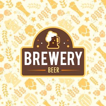 ビールの背景デザイン