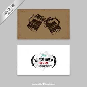 Beer business card in retro style