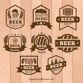 Beer emblems set in vintage style
