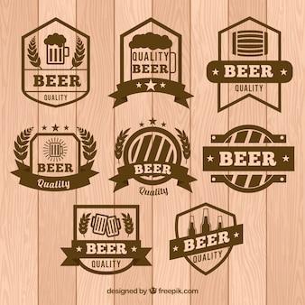 Beer emblems set in vintage style