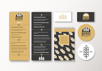 Beer stationery collection