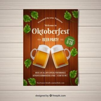 Beer toast oktobefest brochure