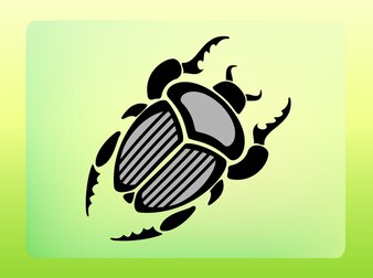 Beetle icon with horns