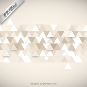 Beige background with traingles