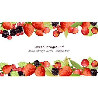 Berries frame background
