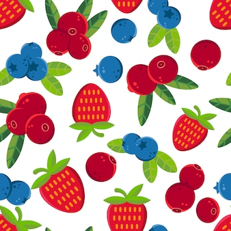 Berries pattern background