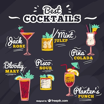 Best cocktails vector