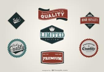 レトロなラベルデザインのベクトル素材