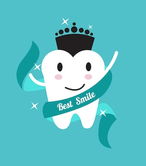 Best smile. tooth with a crown