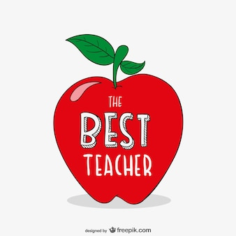 Best teacher typography with apple