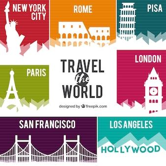 Big city travel background