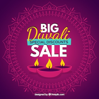 Big diwali sale background