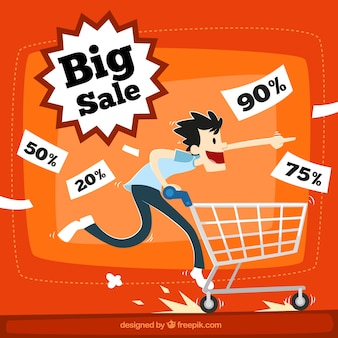 Big sale illustration