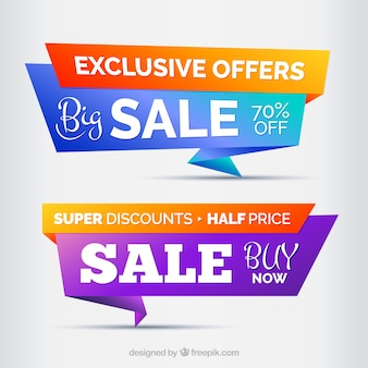 Big sales banner design