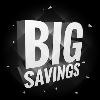 big savings poster dark