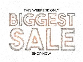 Biggest Sale Banner, or Sale Poster Design.