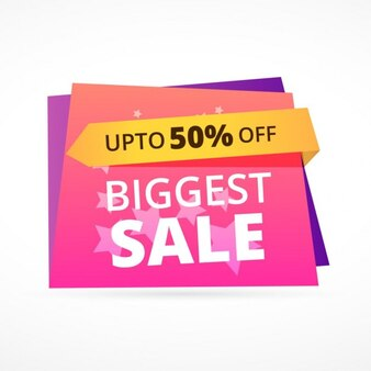 Biggest sale discount colorful banner