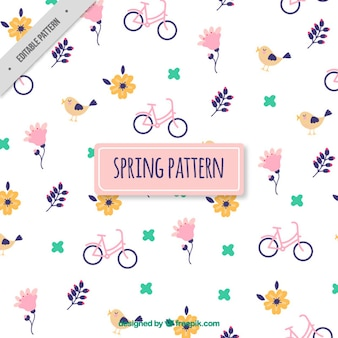 Bikes with flowers pattern