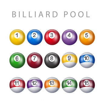 Billard pool collection