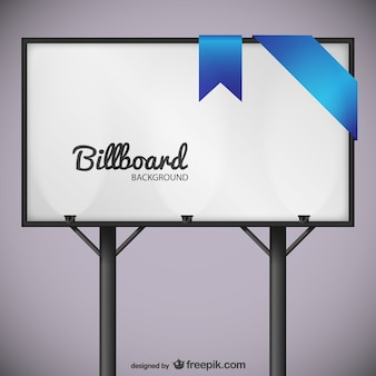 Billboard with blue lace