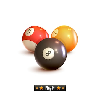 Billiard balls isolated