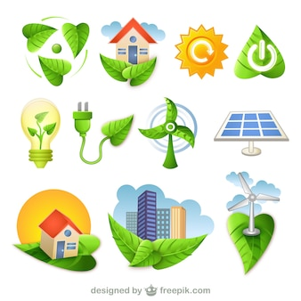 bio green nature icons