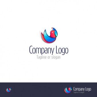 Bird shape logo template