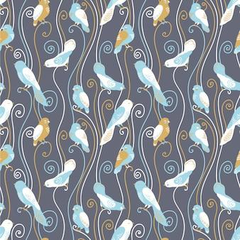 Birds pattern design background