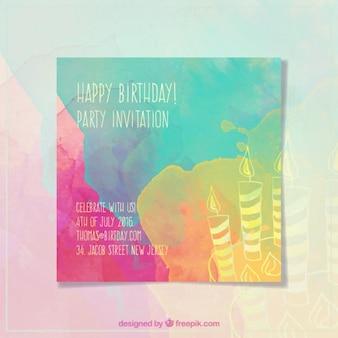 Birthay candles invitation