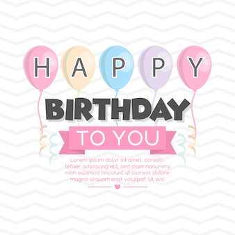 Birthday background design
