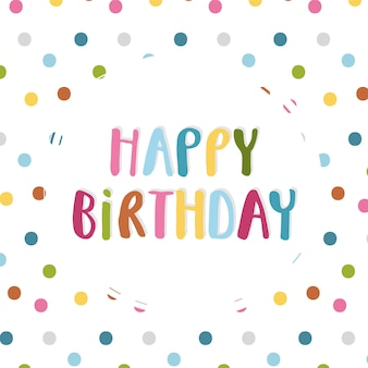 Birthday card with dots