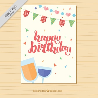 Birthday card with glasses