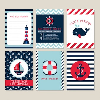Birthday card with nautical elements