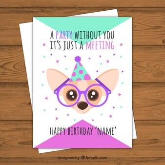 Birthday card with nice dog
