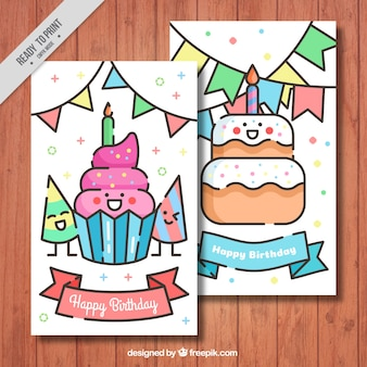 Birthday cards with nice characters