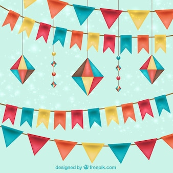 Birthday decoration in realistic style