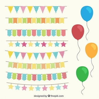 Birthday decoration set in colors