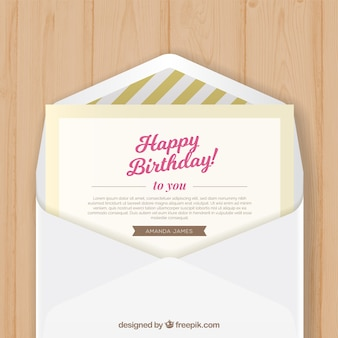 Birthday envelope with birthday greeting card