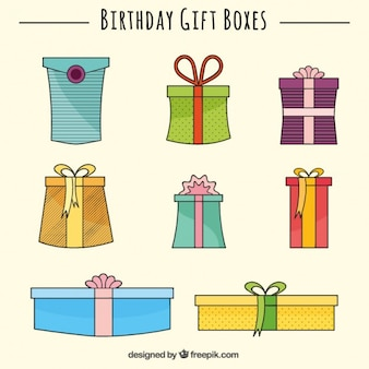 Birthday gift boxes