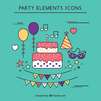 Birthday Icon Collection