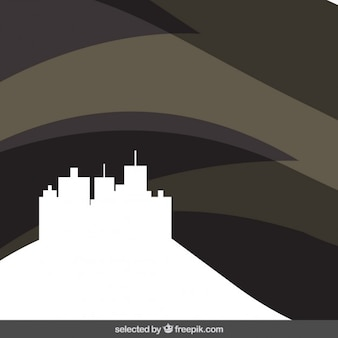 Black abstract background with cityscape