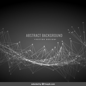 Black abstract background with mesh