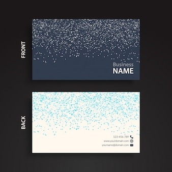 Black and blue glitter business card