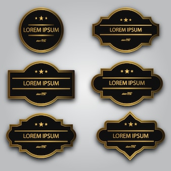 Black and golden logo collection