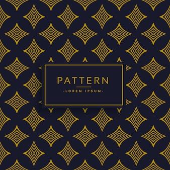Black and golden pattern design background