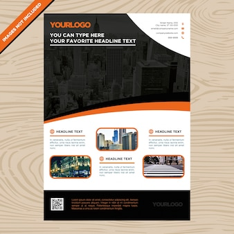 Black and orange business brochure